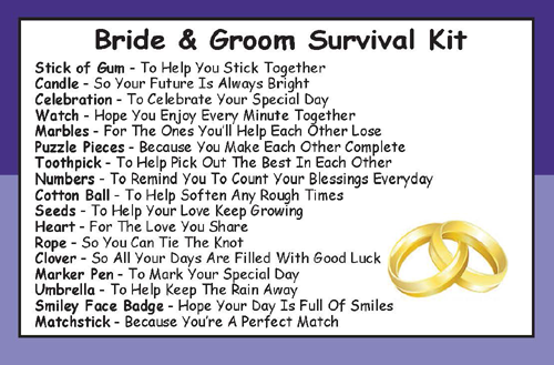 Bride & Groom Wedding Survival Kit In A Can